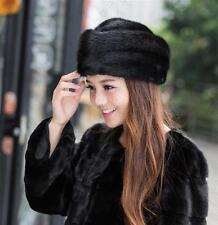 Winter Women Real New Mink Fur Hat Cap Headgear Beanie Beret QS 00011.2