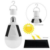 LED Solar Light Bulb 7W E27 265V Tent Camping Fishing Solar Lamp Rechargeable