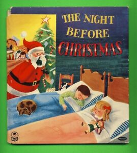 1955 THE NIGHT BEFORE CHRISTMAS Whitman SANTA CLAUS Cover COZY CORNER Book #2408
