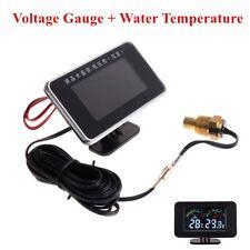 12-24V Car 2 in1 LCD Digital Display Voltmeter /Water Temp Temperature + sensor