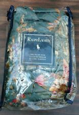 Vintage Ralph Lauren SINCLAIR NOS Euro Ruffled Pillow Sham- Sateen-Rare-Green
