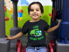 I Love Garbage Trucks Shirt - Trash Truck TShirt - Garbage Truck Tee boy girl
