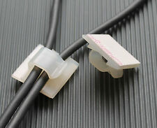 2 Stück Kabelhalter selbstklebend Kabelklemme  26x26mm Polyamind 6.6 natur