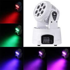 7X20W RGBW LED Moving Head Spot Stage Light DMX512 DJ Disco XMAS Party Lighting