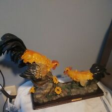 """13"""" Roosters Statue Figurine """"Gift of Time Collection"""" Vintage"""