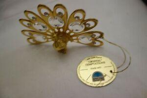 Crystal Temptations Swarovski 24 K Gold Plated Peacock