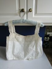 Antique Victorian Camisole Corset Cover Cotton with Floral Lace