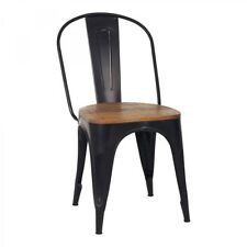 Küchenstuhl Stuhl METALL Esszimmerstuhl EISEN HOLZ stapelbar Vintage Industrie