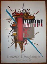 Mathieu Georges affiche lithographie Mourlot 1965 art abstrait abstraction