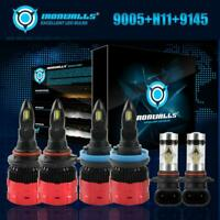 IRONWALLS 9005+H11 LED Headlight Bulbs+9145 Fog Lamps for Ford F-150 2015-2018