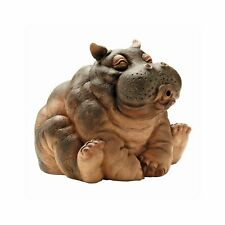 "10"" Hippo Piped Spitter Statue Water Feature Fountain Pond Garden Ornament Decor"