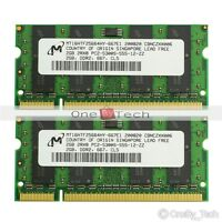 Micron DDR2 4GB (2x2GB) PC2-5300 667Mhz DDR2 Sodimm Laptop Memory KIT 200-PIN