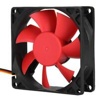 12V 3Pin/4Pin 80mm Cooler Small Cooling Fan PC ABS Fans For Computer Heat Sink