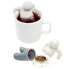 Mr.Tea Infuser Loose Tea Leaf Strainer Herbal Spice Silicone Filter Diffuser 1pc