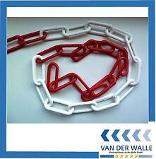 Kunststoff Absperrkette rot-weiß 6 mm UV-beständig, 25 Meter