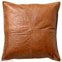 Genuine Lambskin Soft Leather Throw Pillow Cushion Cover Handmade Decorative P1