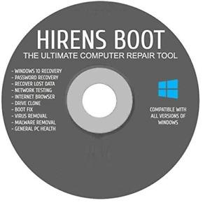 Hirens Boot CD Computer Repair Software AntiVirus Malware Removal Recovery