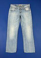 Levis 570 jeans donna usato denim W29 tg 43 gamba dritta blu straight fit T5662