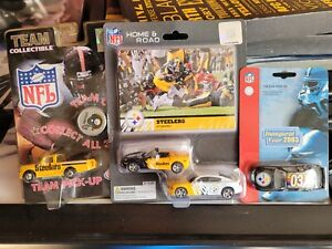 4pc lot Pittsburgh Steelers diecast 1:64 scale Home/Away cars/pickup truck/racer