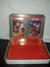 Coca-Cola Nostalgia Santa Claus Christmas Playing Cards 1992 Edition 2 decks