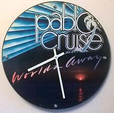 "Pablo Cruise Worlds Away Album Clock 11.5"" round battery operated"