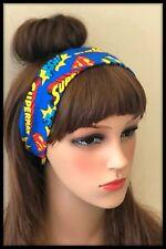 Superman Headband Bandana Hairband Headscarf Costume Logo Dress Party Super Hero