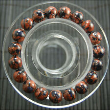 "New 10mm beautiful Golden Blue sand Round Beads bracelet 7.5 """