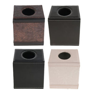 Square Paper Facial Tissue Box Cover Holder for Bathroom Vanity Countertops