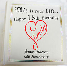Personalised Photo Album, Memory/Guest Book, 18th Birthday, (6 x 4) 300 photos