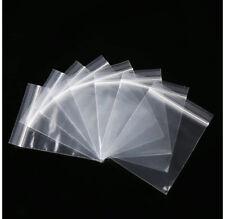 100 Small Clear Bags Plastic Baggies Baggy Grip Self Seal Resealable Zip Lock UK