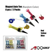 A99 Golf Pack of Magnet Tee 8pcs New Random Color Golf Auto Magnet Tees