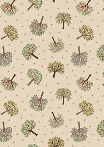 0.5 metre Trees on Natural 100% Cotton Fabric 112cm wide