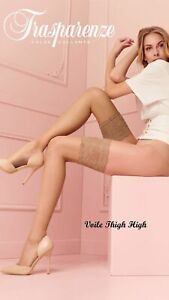 Trasparenze Voile 8 Denier Thigh High Ultra Sexy Lace Top US Seller FreeShipping