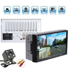 2 Din Car Video Player 7'' Touch Screen Dual Core MP5 Player + Rear View Camera