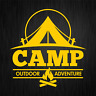 CAMP Outdoor Adventure Camping Camper Gelb Auto Vinyl Decal Sticker Aufkleber