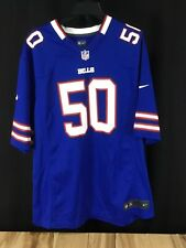 Buffalo Bills Nike On-Fiel #50 No Name Tag Jersey Xxl Blue Name Tag Removed 2xL