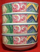 """Furio Home Mesa Sakura Malaga 4 Soup Cereal Bowls 6"""" Indonesia H097/51 Excellent"""