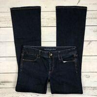 Banana Republic Boot Cut Jeans Size 27P Petite Womens Dark Wash Stretch Denim