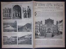 1897 COSENZA Le cento città d'Italia Sonzogno Editore numerose illustrazioni