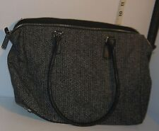 Esprit Houndstooth Pattern Black and Gray Ladies Handbag/Purse w/Dual Handles