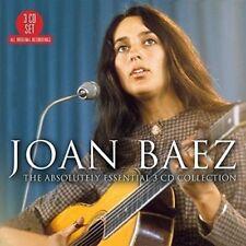 JOAN BAEZ ABSOLUTELY ESSENTIAL REMASTERED 3 CD DIGIPAK NEW