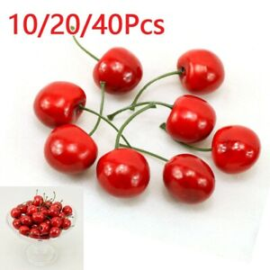 Fruit Plastic Cherry Fake For Kitchen Home Foods Decor Photography Prop Hot