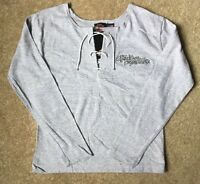 Harley Davidson Tie Front Long Sleeve Shirt NWT Women's small