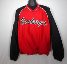 The Ohio State Buckeyes OSU Pullover Lined Jacket Large L size 58 Sports. Sewn.