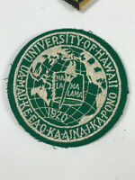 VTG 60s 70s University of Hawaii Varsity school college embroidered patch