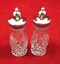 DIAMOND PATTERN GLASS SALT AND PEPPER SHAKERS