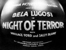 NIGHT OF TERROR 1933 Bela Lugosi, Wallace Ford