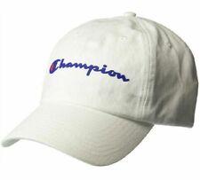 44000e48276d5 Champion White Strap Back Spell out Script C Hat Logo Ni7