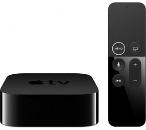 APPLE TV 4K HDR with Siri - Media Streamer - 64 GB - Black with Remote