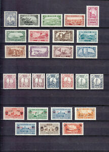SYRIA SYRIE   1925-1926   5 COMPL. SETS / 40 STAMPS MLH*